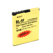 2450mAh BL-5F / BL 5F High Capacity Battery Use for Nokia 6290/E65/N93i/6210/N96/6210S/6710N/N95 etc Mobile Phones