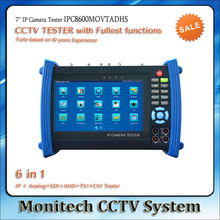 IPC8600MOVTADHS 7'' Touch Screen IP Camera CCTV Test Analog AHD TVI CVI SDI Camera Tester TDR /OPM/ MULTI/ VFL test ONVIF/WIFI