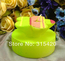 Nicole LZ0038 3D Five Petal Flowers Shape Soft Silicone Candle Molds Candle Craft Moulds Soap Candle Mould(China)