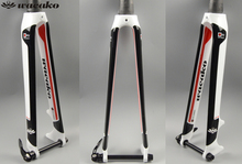 wacako carbon road bike fork bicycle parts c brake disc brake 700c wheel Barrel axis fork 28.6mm white Bicycle Accessories
