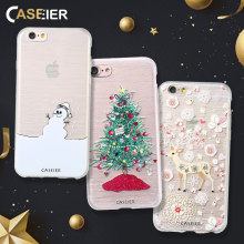 CASEIER Phone Case For iPhone 5 5s SE Merry Christmas 3D Relief Shell Soft TPU Cover Phone Bags Christmas Gift Cute Girls Cases(China)