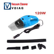Auto Accessories Portable 120W 12V Car Vacuum Cleaner Handheld Mini Super Suction Wet And Dry Dual Use Vaccum Cleaner For Car