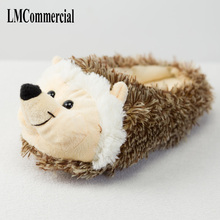 Indoor Slippers Special dog offer custom a warm winter hedgeh lovers home slippers thick hard bottom shoes on floor lovers shoes(China)