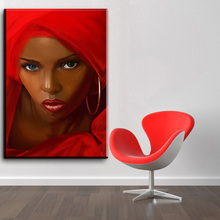 xh2270 Canvas Painting Canvas Art Pictures Home Decor Abstract African Women In Red Figure Painting For Living Room Unframed