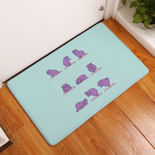 Cartoon Flannel Carpet Yoga Dog Printing Mat For Living Room 40x60cm Door mat Rectangle Tapete Fashion Household Items(China)