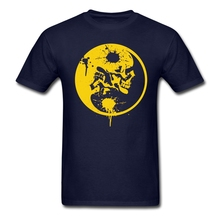 Yin Yang Skulls Customize on Mens t shirt Top Sale XS-XL  t shirts Site Mens Clothing