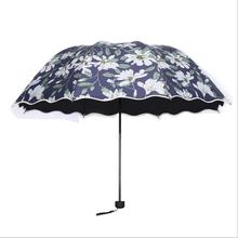 Flower Rifle Umbrella Wind Resistant Summer Sun&Rain Umbrella UV Protection Flower Rifle Umbrella(China)