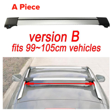 Universal 1x  Car Roof Rack Cross Bar  99cm~105cmTop Luggage Cargo With Lock System For Most Vehicles With Raised Side Rails
