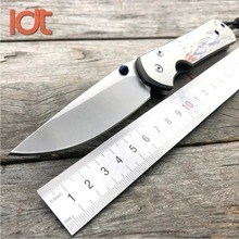 LDT CR Sebenza Ikosi Tactical Folding Knives D2 Blade Titanium Handle Camping Knife Hunting Survival Pocket Knife EDC Tools