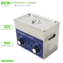 Ultrasonic cleaner 3L AC110/220v 120W heater&timer 40KHZ PS-20 for electronic components ,Dentures cleaning machine Commercial(China)