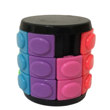 X-Cube Colorful Three-layer Magic Tower Creative Puzzle Toy for Challenge - Black Base(China)