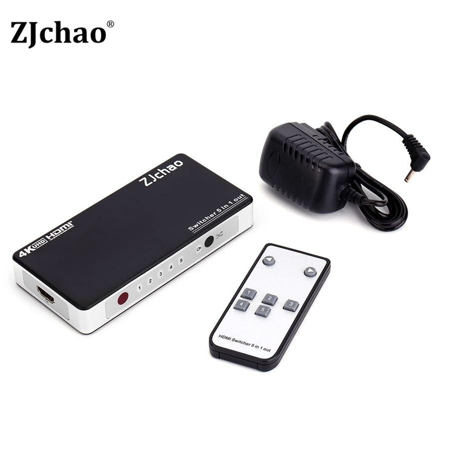 HDMI Switch Splitter 5 Port HDMI Splitter 5 in1 Hub Box Auto Ultra For HDtv 4K x 2K 3D 1080p HD 1.4 IR with Remote Control Hot<br><br>Aliexpress