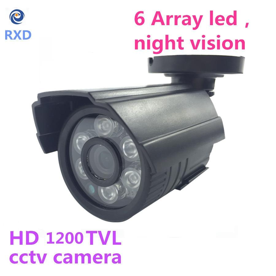 MiNi CCTV Security Camera Outdoor Bullet 1200TVL 1/3 Color IR-CUT Filter CMOS 3.6mm Lens 6IR Leds Waterproof plastic case<br><br>Aliexpress
