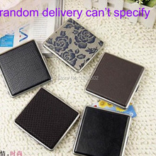 HOT Fashion New Arrive Leather And Metal Cigarette Case Box Smoking Tool Accessories(China)