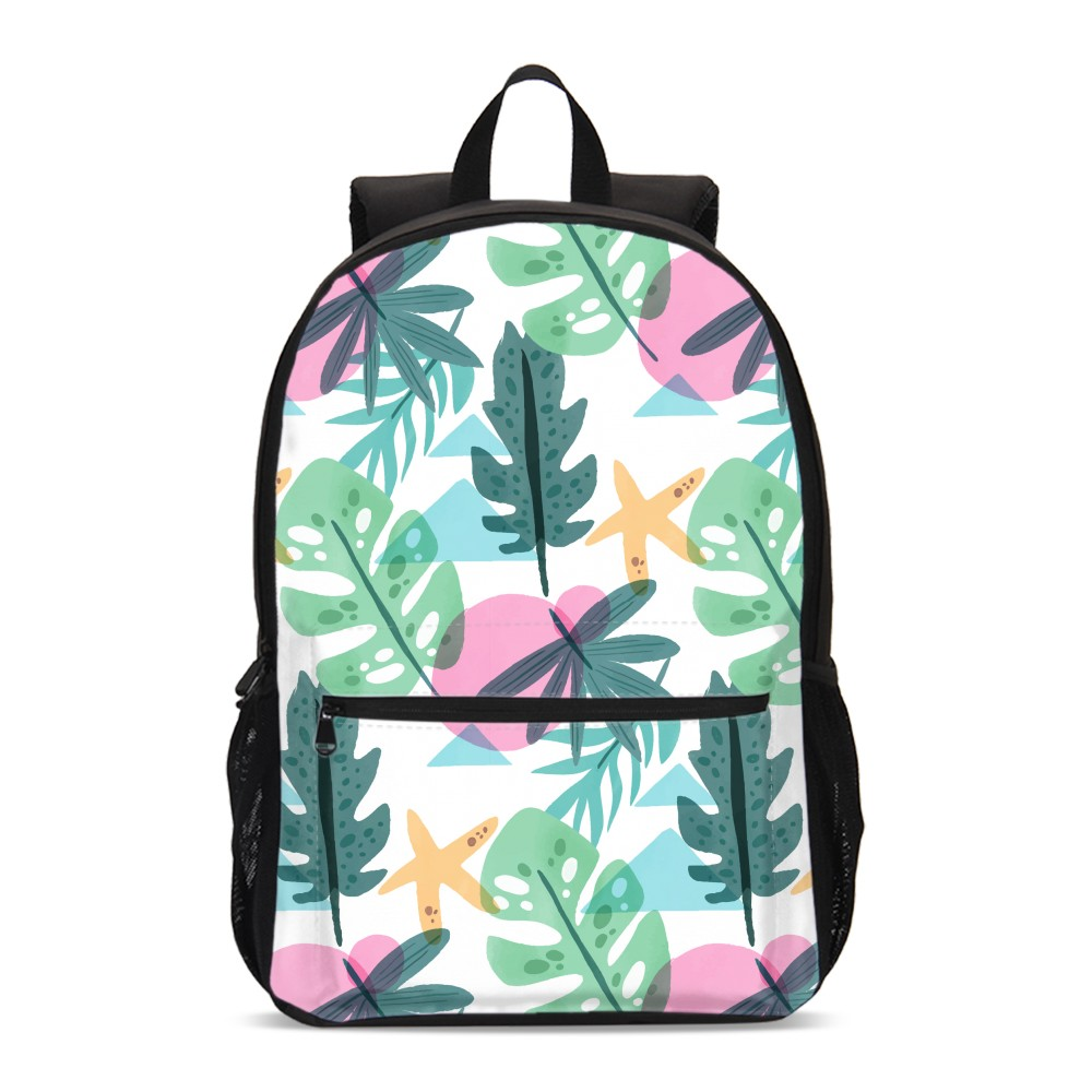 VEEVANV New Girls School Backpacks Skull Brown Plant Leaves 3D Large Bagpack High Quality Laptop Shoulder Bags Fashion Mochila