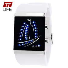 Hot TTLIFE Fashion Led Yacht Display Sports Watches Men Women Digital Analog Watch Lovers Electronic Wrist Watches Montre Homme