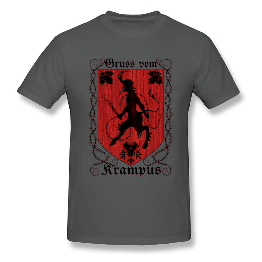 Greetings From Krampus Mens Tshirt Fitted Normal Tops Shirt ostern Day Cotton Fabric Round Collar Tee Shirts Short Sleeve Greetings From Krampus carbon