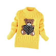O-neck Warm Outerwear Boys Sweater Cartoon Baby Girls Sweater Jumper Kids Knitted Pullovers Children Clothes(China)