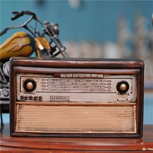 Vintage Retro Radio Photography Props Background Resin Gift Craft Ornaments Bar Coffee Home Decoration furnishing Christmas Gift