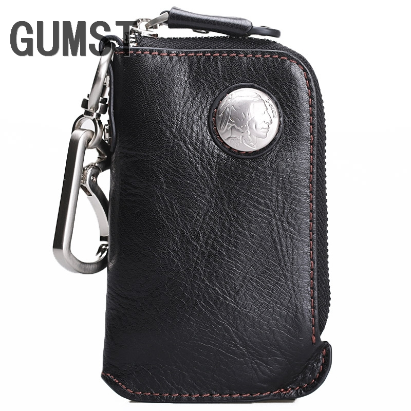 Cow Leather Car Key Men/'s Women/'s Holder Coin Purse Wallets Bag Chain Ring