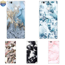 Phone Case For Huawei P9 Lite G9 For Huawei P9 / P9 Plus Shell For Huawei Honor 5C Cover Soft TPU Marble Lines Design Painted