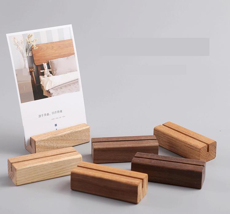 Mini Wooden Teachers Pegs Photo Cards Holder Table Party Decoration 1 Set 17pcs
