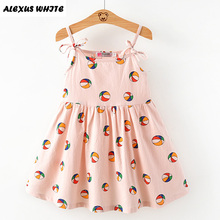 2017 Brand Balloon Dress Girls Summer Sleeveless Cotton Lovely Kids Bobo Bebe Children Clothes Princess Girls Dress 90-130cm