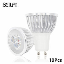 BEILAI 10pcs GU10 Dimmable Lamparas LED Lamp 220V 110V Lampada LED Spotlight GU10 3W 4W 5W 85-265V Spot Luz LED Bulbs Lighting