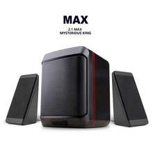 EARVO S5 2.1 Max Multimedia Player 3 Inch Heavy Bass Speaker with Metal Dust Net Wired Portable Speaker for Computer PC Phone