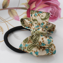 M MISM New Arrival Korean Style Girls Hair Elastics Big Bow Dot Flora Ponytail Rubber Hair Rope Hair Accessories Scrunchy Women(China)
