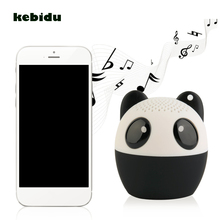 kebidu Wireless Bluetooth3.0 Animal Speaker Panda Dog Built-in mic Hands-free Mini Audio Player TF Card USB for Smart Mobile PC(China)