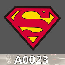 A0023 SUPERMAN Chest Mark LOGO Waterproof Sticker for Cars Laptop Luggage Fridge Skateboard Graffiti Notebook Stickers