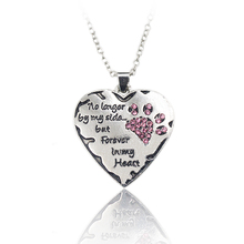 Pet Lover Dog Paw Pendant Necklace via epacket to USA & via other logistic ways to other countries