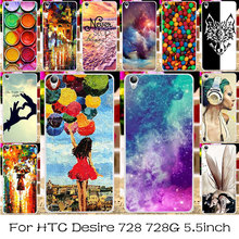 TAOYUNXI Silicone Plastic Mobile Phone Case For HTC Desire 728 728G Bag Shell Dual Sim D728T D728W Cover For HTC Desire 728 Case(China)