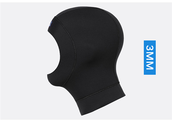 DIVE&SAIL 3mm neoprene diving cap snorkeling swimming hat hood neck cover winter swim keep warm scuba surfing face mask black014
