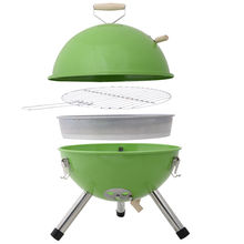 Botique-portable bbq round barbecue grill charcoal garden travel outdoor & home& camping