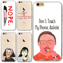 TPU Cover For Apple iPhone 4 4S 5 5S SE 5C 6 6S 6Plus 6S+ Case Funny Cat Thick Lips Odd Girl Potato Chips Silicon Hot Sales!