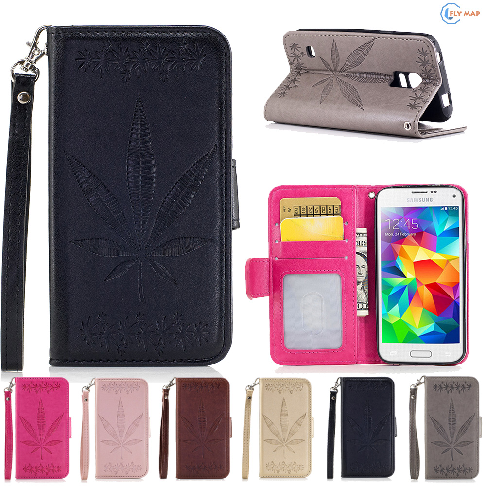 Flip Case Samsung Galaxy s5 mini s 5 mini s5mini Phone Leather Cover protector Case G800F G800H SM-G800F SM-G800H Cases