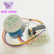 1set 5V 4-Phase 28BYJ-48 DC Gear Step 1PCS Stepper Motor + 1PCS ULN2003 Driver Board ULN2003 For Arduino PIC MCU DIY(China)