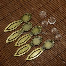 18mm Clear Domed Glass Cabochon Cover for Antique Bronze DIY Alloy Portrait Bookmark Making, Lead Free & Nickel Free, Bookmark(China)