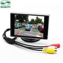 GreenYi Wholesale 8pcs 3.5 inch Small Rear View Car Monitor With 2 Video Input(China)