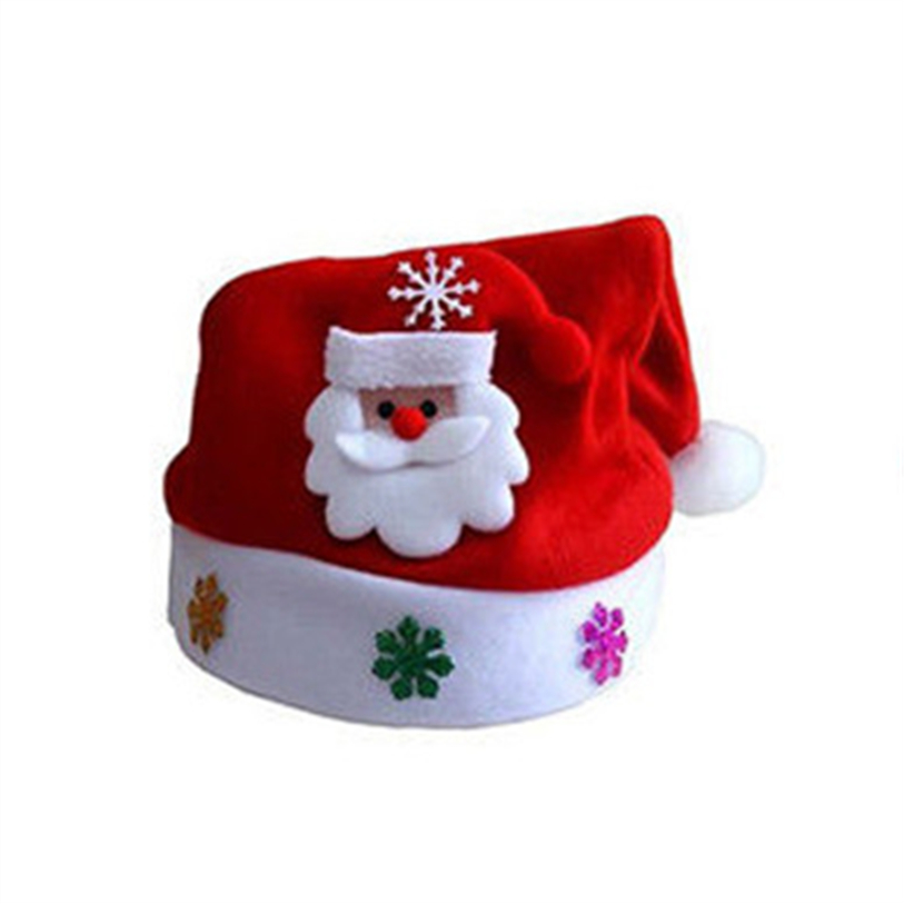 New Cute Christmas Hat LED Caps Snowman Elk Hat for Children New Year Xmas Kids Gift Home Decorations Christmas Ornaments noJY3 (5)