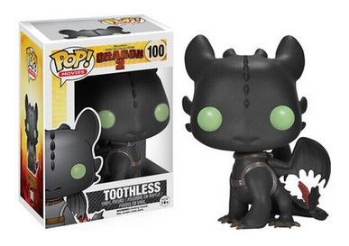 Free shipping Cute FUNKO POP Wacky Wobbler Bobble Action Figure Toothless How To Train Your Dragon 2 Animation Movie Model Toy<br><br>Aliexpress