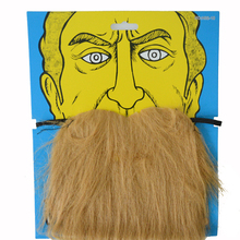 2pcs/lot Halloween cosplay carnival Stylish Costume Party brown Fake big mustache Funny facial hair kit