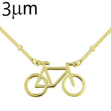 3UMeter Racing Necklace Copper 3um Silver/gold/rose Gold Color Racing Bike Bicycle Tiny Charm Necklace for Fitness Jewellery(China)
