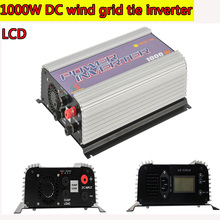 1000W MPPT Pure Sine Wave On Grid Inverter for DC 22-60V/45-90V Wind turbine LCD Wind Grid Tie Inverter with Dump Load NEW
