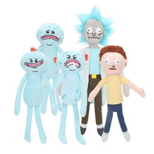 24-30cm RICK AND MORTY Foamy Happy Sad Meeseeks Soft Plush Action Figure Toy Cartoon RICK&MORTY Collection Juguetes Kids Gift(China)