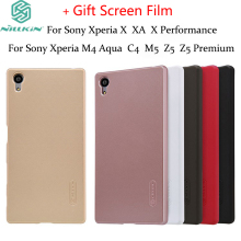 For Sony Xperia M4 Aqua&M5&Z5&Z5+ case Nillkin Frosted Shield Hard Cover for Sony Xperia X&XA&X Performance Gift Screen Film(China)