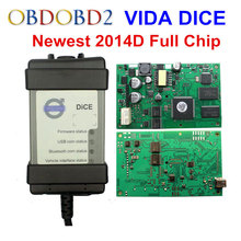 Hottest Full Chip For Volvo Vida Dice 2014D Diagnostic Tool Multi-Language For Volvo Dice Pro Vida Dice Green Board Free Ship(China)