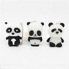 cartoon Panda pen drive personalizado usb 2.0 flash drive disk real capacity gift memory Stick pendrive 4GB 8GB 16GB 32GB(China)